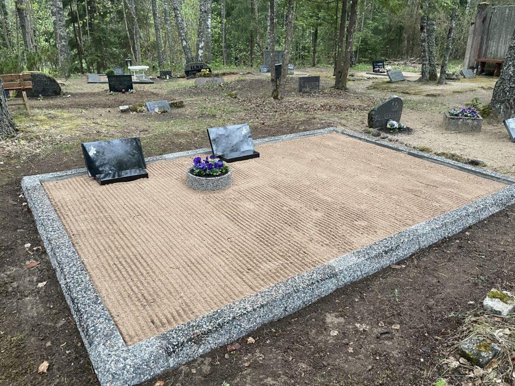 Renoveerimine Aegviidu kalmistul PÄRAST foto